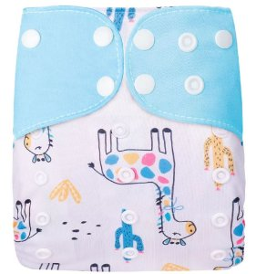 Fralda Ecológica Girafinha Azul Simfamily