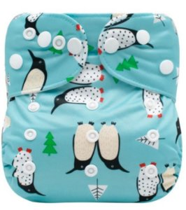 Fralda Ecológica Pinguins Mumsbest