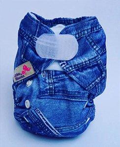 Fralda Ecológica Recém Nascido Jeans Littles e Bloomz