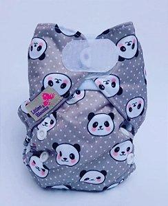 Fralda Ecológica Recém Nascido Panda Littles e Bloomz