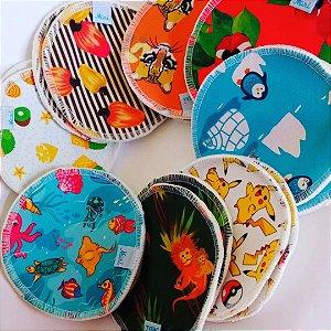 Kit 3 pares de absorvente de Seios - Estampas Aleatóris