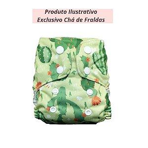 Fralda Ecológica Recém Nascido Cactos - Produto ilustrativo - Exclusivo chá de fraldas