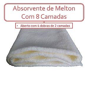 Absorvente em melton - 8 camadas - Abs Noturno
