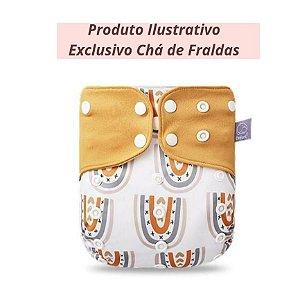 Fralda Ecológica Arco-Íris Diferente - Exclusivo Chá de Fraldas