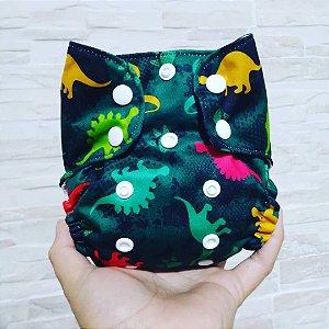 Dino - Recém Nascido - Mari fraldas - Pull - Pocket - Interior em dry-fit