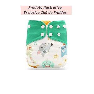 Fralda Ecológica Animais - Exclusivo Chá de Fraldas
