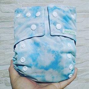 Tie Dye Azul - Brasileirinha - Pull - Pocket - Interior em Dry-fit