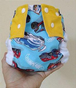 Hotwheels - Pequena Luna - Algodão - Pocket - Interior em dry-fit