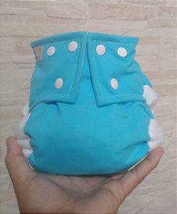 Azul Piscina - Pequena Luna - Lycra - Pocket - Interior em dry-fit