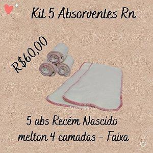 Kit 5 absorventes - Recém Nascido