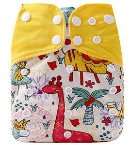 Animais  Coloridos - Simfamily - Pull - Pocket - Interior em Suedine