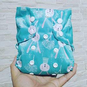 Coelhinho - Recém Nascido - Mari Fraldas - Pull - Pocket - Interior em dry-fit