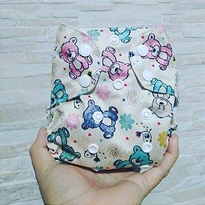 Ursinhos - Recém Nascido - Mari Fraldas - Pull - Pocket - Interior em dry-fit