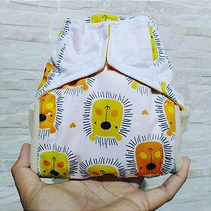 Leãozinho - Recém Nascido - Aurorinha - Pull - Pocket - Interior em dry-fit