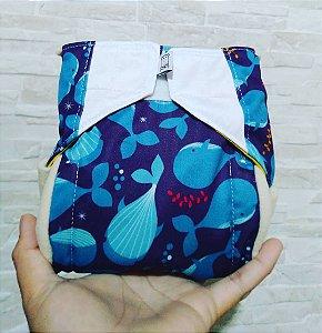 Baleia - Recém Nascido - Aurorinha - Pull - Pocket - Interior em dry-fit