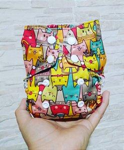 Gatinhos - Recém Nascido - Mari fraldas - Pull - Pocket - Interior em dry-fit