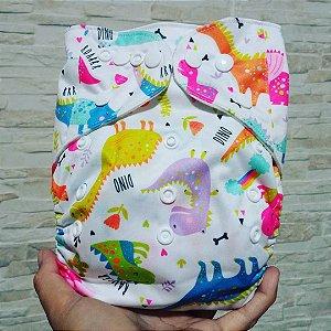 Dinos Coloridos Colorido - Ananbaby - Pocket - Interior em Suedine