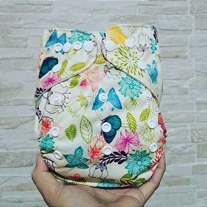 Flores e Borboletas - Ananbaby - Pocket - Interior em Suedine