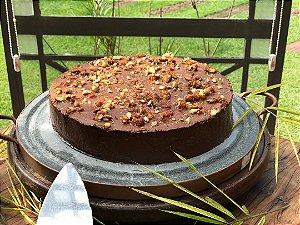 Torta Mousse de chocolate belga (sem gluten, com açucar demerara)