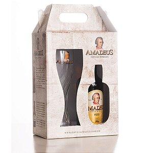 Kit Taça Weiss (Copo Weiss / Cerveja Weiss Puro Malte Amadeus 500 ml)