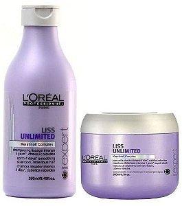 Kit Loreal Liss Unlimited Shampoo 250ml E Máscara 200ml ( Nacional )