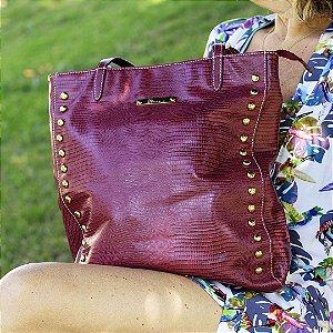 Bolsa de couro vermelha