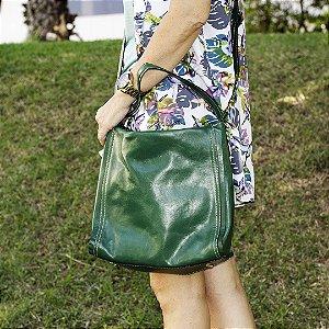 Bolsa de couro legítimo verde