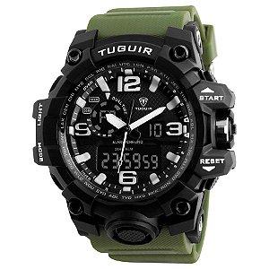 df2154285e7 Relógio Masculino Tuguir Anadigi TG1155 Preto e Verde