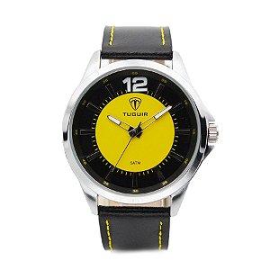 fe374d1fe0e Relógio Masculino Tuguir Analógico 5018 Preto e Amarelo