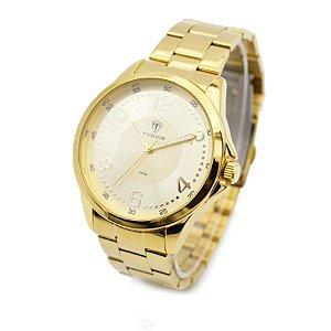 0c875de87a1 Relógio Masculino Tuguir Analógico 5020 Dourado