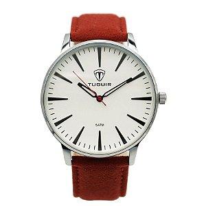 a4c0c802108 Relógio Masculino Tuguir Analógico 5044 Prata e Vermelho - ROMAPLAC
