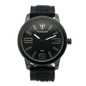 4a69aa692f4 Relógio Masculino Tuguir Analógico 5049 Dourado e Preto - ROMAPLAC