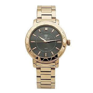 8ca3b2c0611 Relógio Feminino Tuguir Analógico 5439L Dourado e Branco - ROMAPLAC