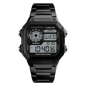 beebd05eb17 Relógio Unissex Tuguir Digital TG1335 Dourado - ROMAPLAC