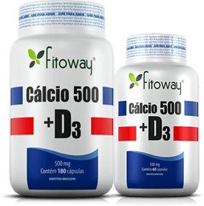 CALCIO 500 + D3 FITOWAY 180 CAPS.