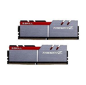 Memória RAM G.Skill 16GB Trident Z (2x 8GB) DDR4 3000MHz PC4-24000 CL15 Gray - F4-3000C15D-16GTZB