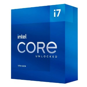 Processador Intel Core i7-11700K 11ª Geração, Cache 16MB, 3.6 GHz (4.9GHz Turbo), LGA1200 - BX8070811700K