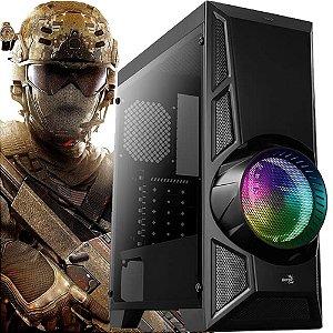 Computador Gamer Intel Core I5 7400, Memória 8gb, HD 1tb, Fonte Real 500W, Geforce 2GB GT 1030