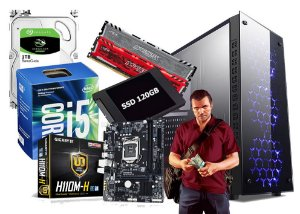 PC GAMER CORE I5 7400 8GB 1TB VIDEO 4GB NVIDIA
