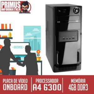 Computador Home Pro AMD Dual Core A4 6300, 4GB DDR3, HD 1 Tera 7200 Rpm