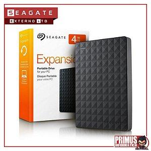HD EXTERNO PORTÁTIL SEAGATE EXPANSION 4TB USB 3.0 PRETO