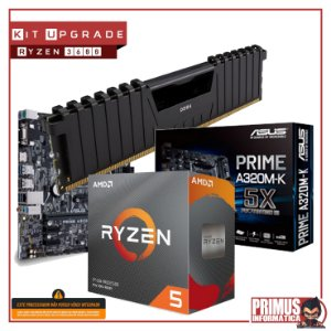 KIT UPGRADE PLACA MÃE A320M-K DDR4 + PROCESSADOR AMD RYZEN 3 3200G + MEMÓRIA DDR4 8GB