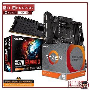 KIT UPGRADE PLACA MÃE X570 DDR4 + PROCESSADOR AMD RYZEN 9 3900X + MEMÓRIA DDR4 32GB 3000MHz (4x 8GB DDR4)