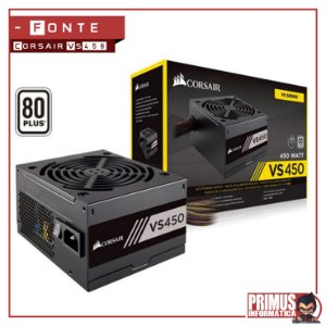 Fonte Corsair 450W 80 Plus White VS450