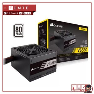 Fonte Corsair 550W 80 Plus White VS550