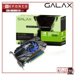 Placa de Vídeo VGA Galax NVIDIA GeForce GT 1030 2GB GDDR5 64Bits