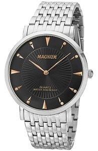 RELÓGIO MAGNUM MASCULINO SLIN MA21900T PRATA