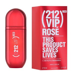 PERFUME CAROLINA HERRERA 212 VIP ROSÉ RED FEMININO  EAU DE PARFUM 80 ML LIMITED EDITION