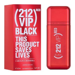 PERFUME CAROLINA HERRERA 212 VIP BLACK RED MASCULINO EAU DE PARFUM 100 ML LIMITED EDITION
