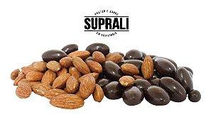 Amêndoa drageada em chocolate 70% cacau (200g)
